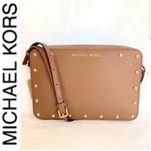 NWT authentic MK leather stud crossbody